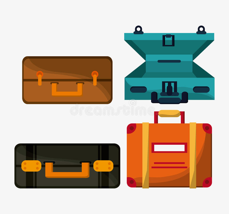 Baggage icon. Time to travel design. Vector graphic stock illustration