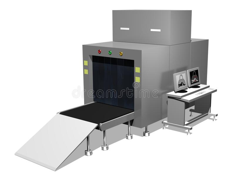 Baggage scanner stock photography