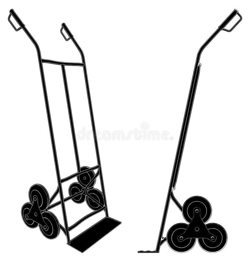 Baggage Trolley Cart Vector 01 Stock Images