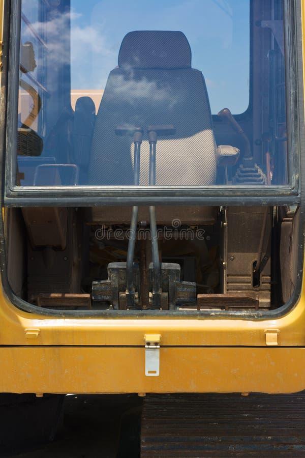 Bagger Cabin lizenzfreie stockfotografie