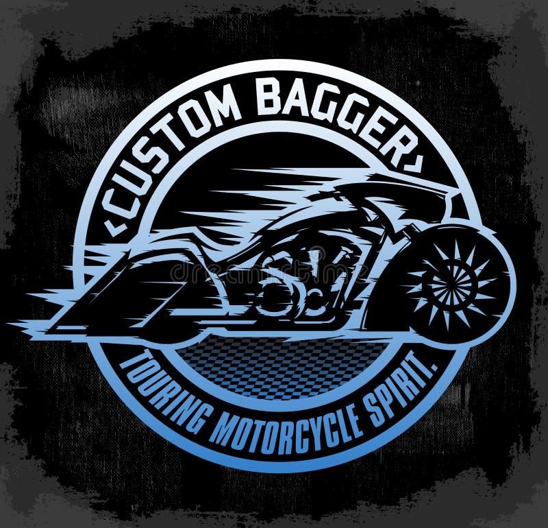 Free Bagger Custom Motorcycle Circular Badge Royalty Free Stock Photography - 76539857