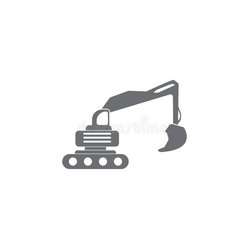 Baggerikone Einfache Elementillustration Baggersymboldesign vom Transportsammlungssatz Kann für Netz und Mobile verwendet werden vektor abbildung