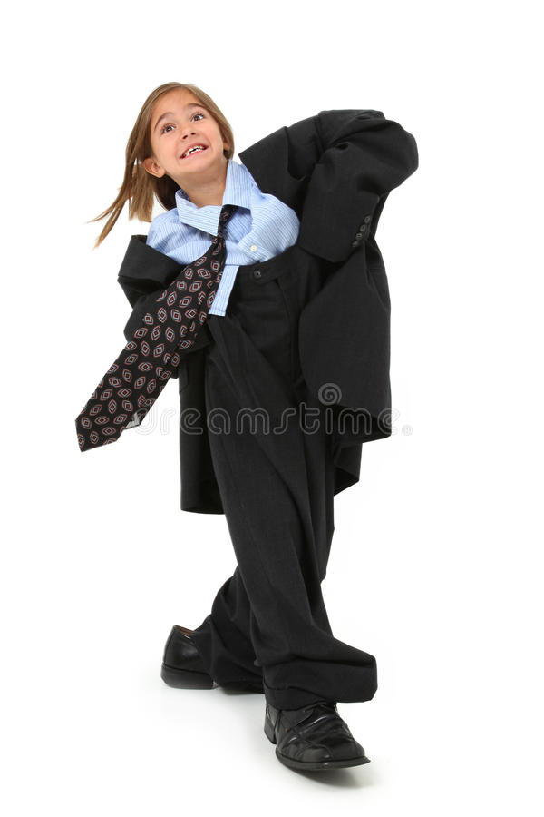 Baggy Suit Girl royalty free stock photos