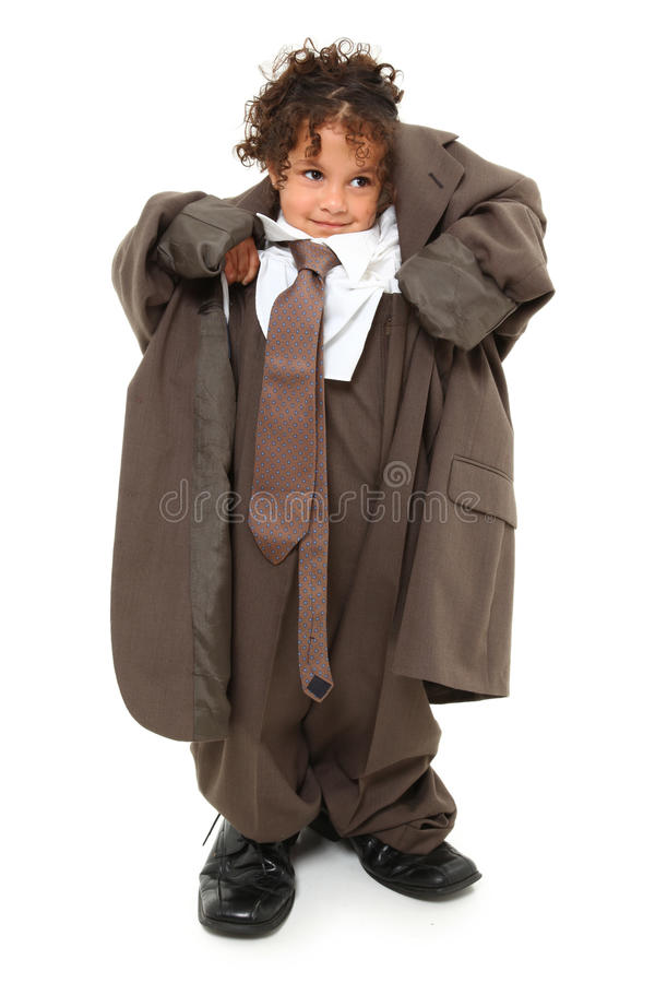 Baggy Suit Girl royalty free stock image
