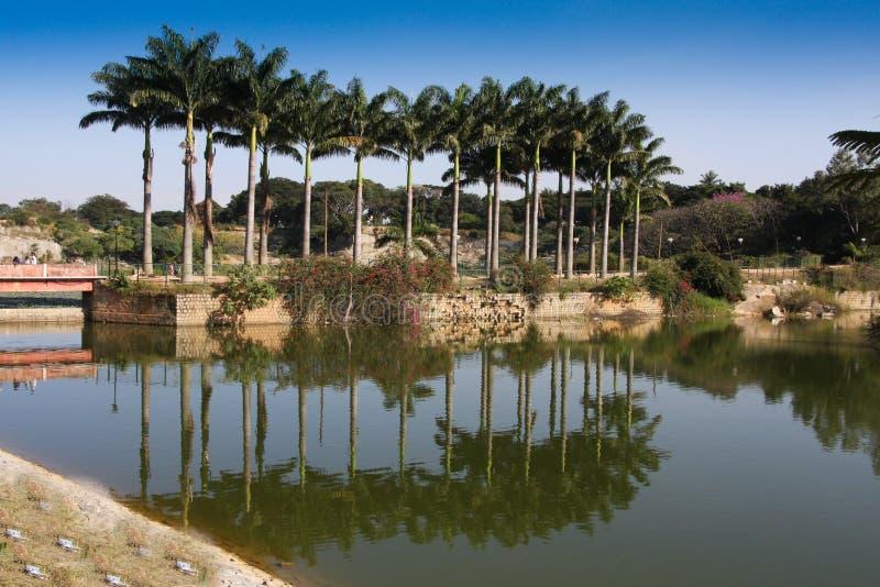 bagh bangalore arbeta i trädgården lal royaltyfria bilder