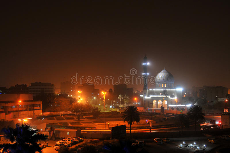 Baghdad bis zum Night stockbild