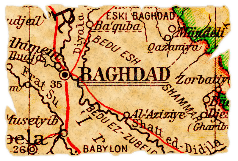 Baghdad old map stock photo Image of background retro 17144674