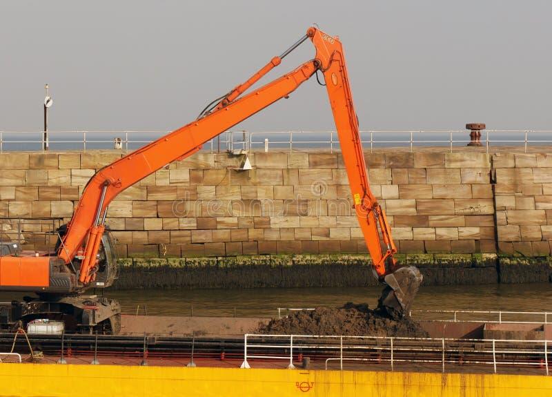 Bagier przy pracą w Whitby, North Yorkshire zdjęcia stock
