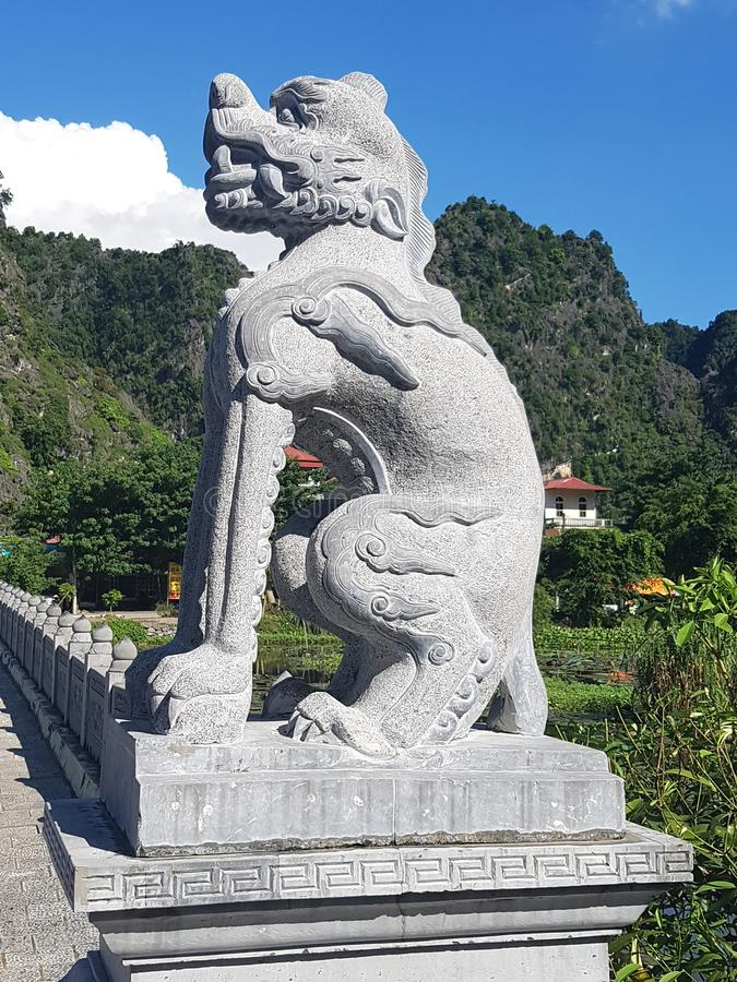 bagkok ναός Ταϊλάνδη φυλάκων στοκ εικόνες