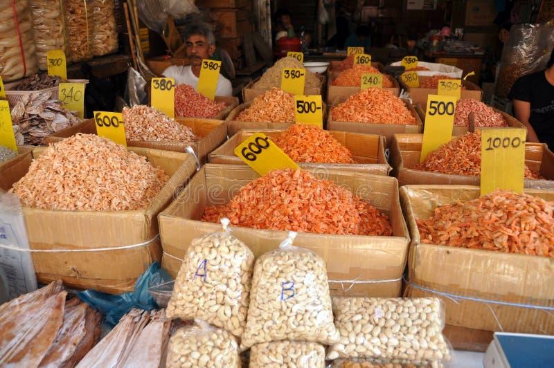 bagkok torkad nuts räka thailand för matar arkivbild