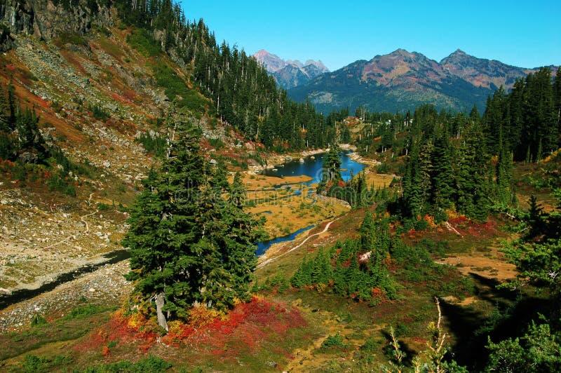 Bagley lake, mt baker park. Washington usa royalty free stock image