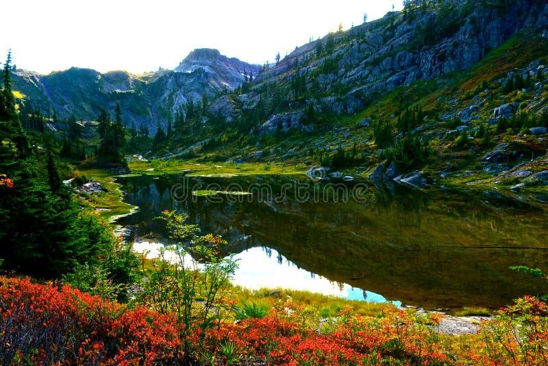 Bagley Lakes. Photo taken at Bagley lakes at Mt. Baker in Washington State royalty free stock images