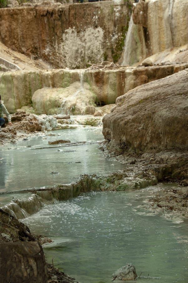 Bagni圣菲利波热量水的春天  库存图片