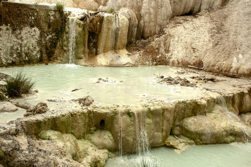 Bagni圣菲利波热量水的春天  免版税库存照片