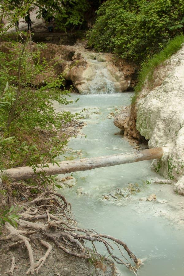Bagni圣菲利波热量水的春天  免版税库存图片