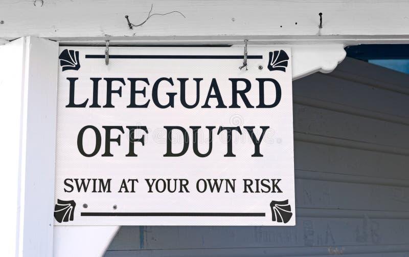 Bagnino Off Duty Sign fotografie stock libere da diritti