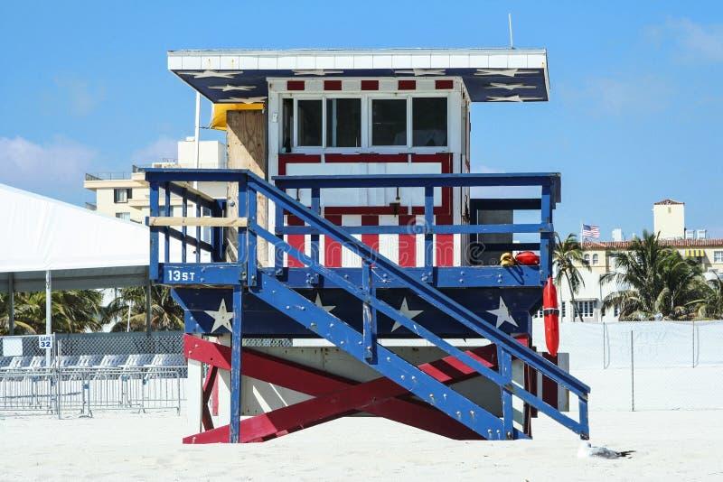 Bagnino Stand di Miami Beach immagine stock libera da diritti