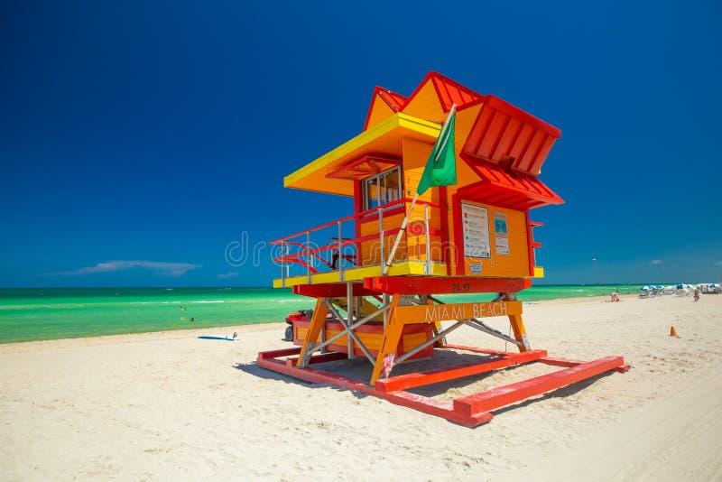 Bagnino Tower Miami Beach Spiaggia del sud florida U.S.A. fotografia stock libera da diritti