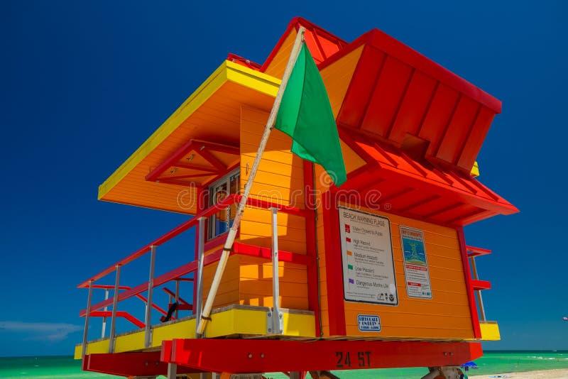 Bagnino Tower Miami Beach Spiaggia del sud florida U.S.A. immagine stock