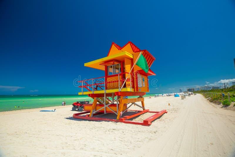 Bagnino Tower Miami Beach Spiaggia del sud florida U.S.A. fotografie stock
