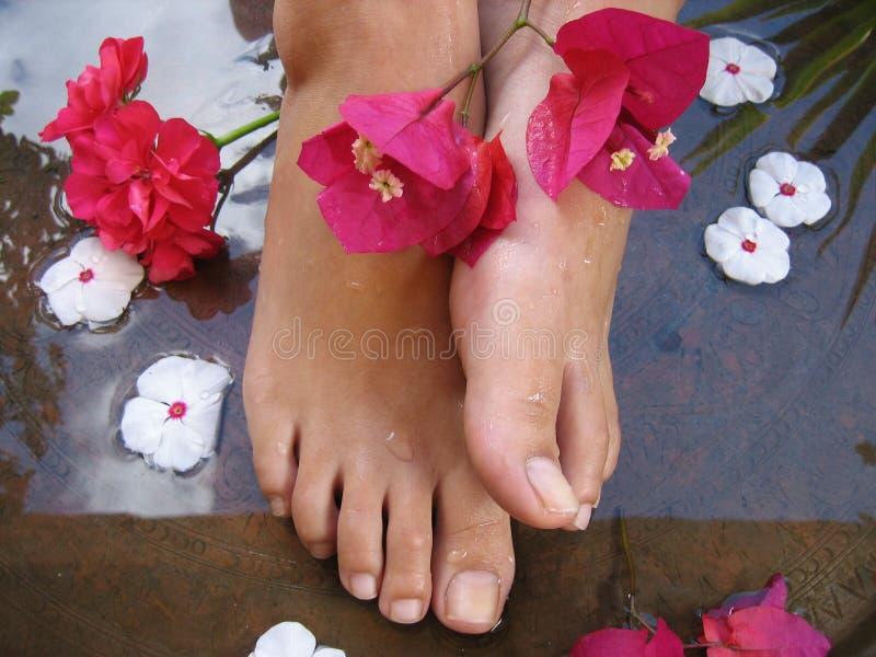 Bagno 1d del piede immagini stock