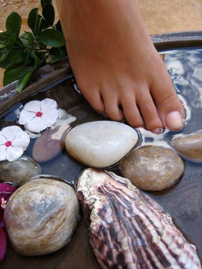 Bagno 2a del piede immagine stock