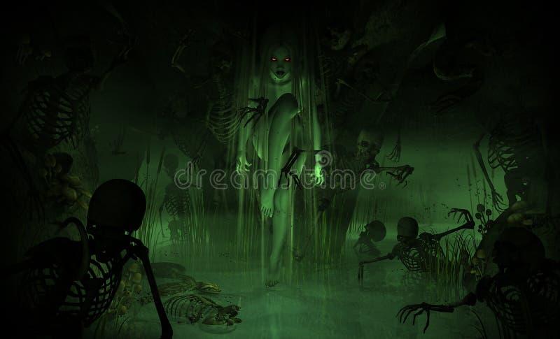 bagno czarownica ilustracji
