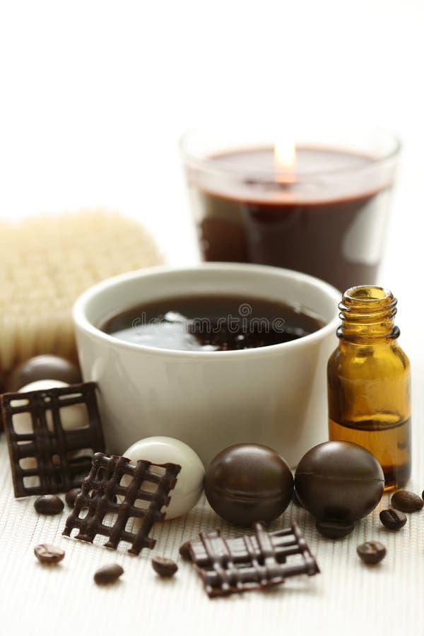 Bagno del caffè e del cioccolato fotografia stock
