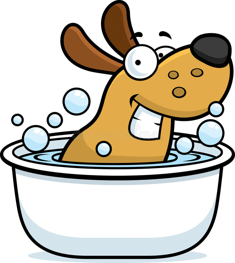 Bagno del cane del fumetto royalty illustrazione gratis
