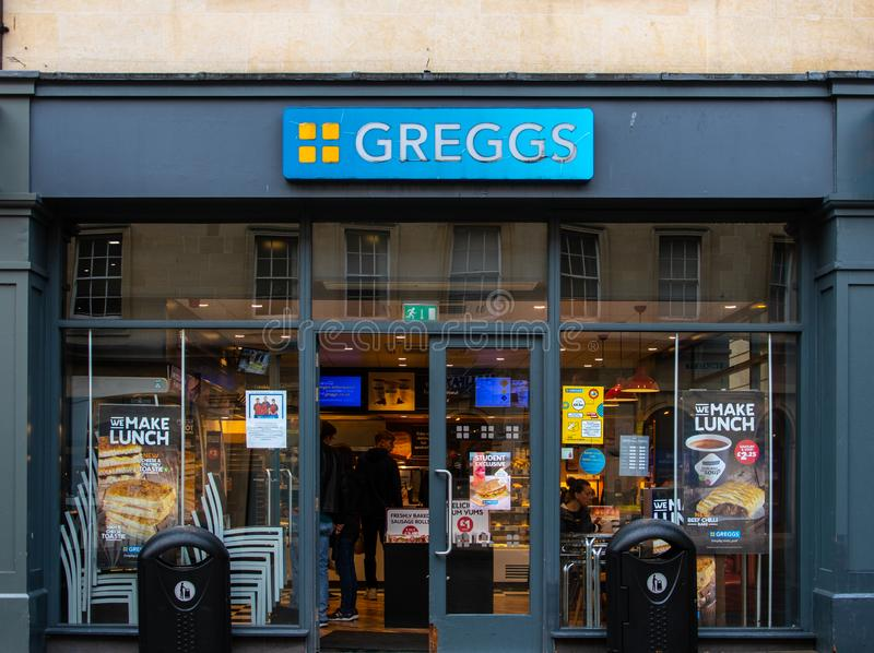 Bagno del forno di Greggs fotografia stock libera da diritti