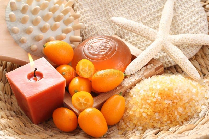 Bagno del kumquat fotografie stock