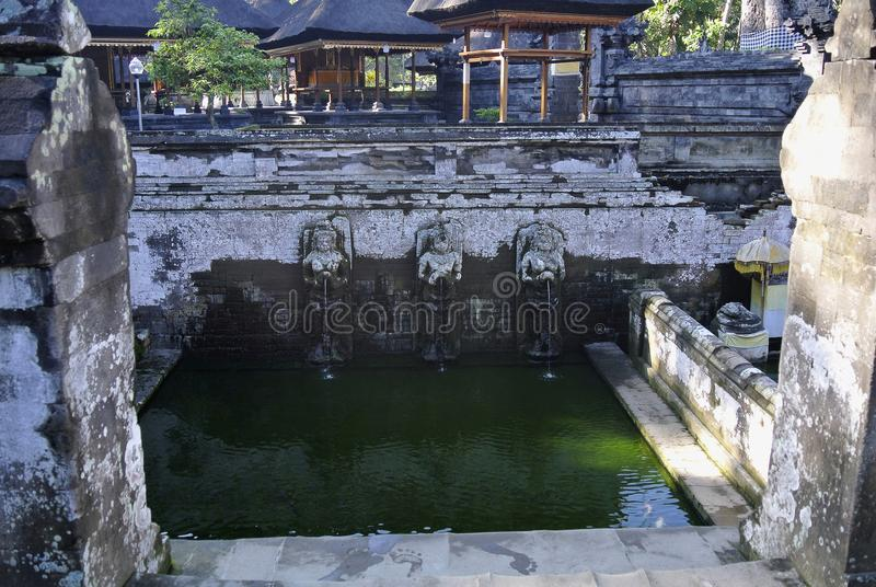 Bagno delle figure del tempio di Goa Gajah, caverna dell'elefante, Bali, Indonesia fotografie stock
