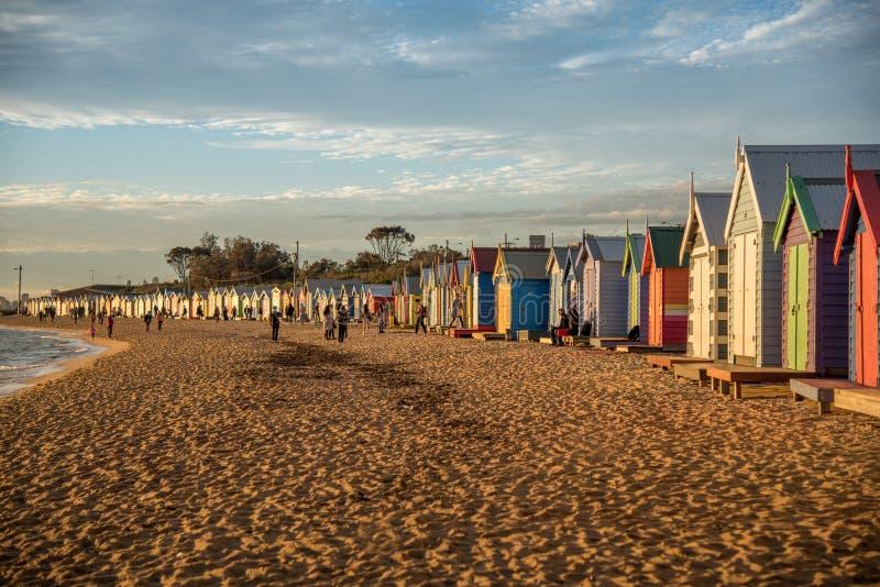 Bagno delle scatole a Brighton Beach, Melbourne fotografie stock libere da diritti