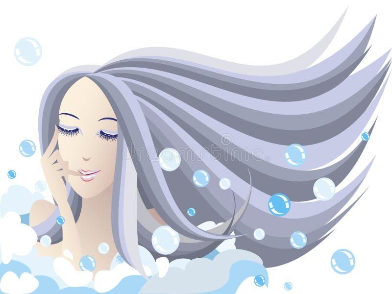 Bagno di bolla fotografie stock libere da diritti