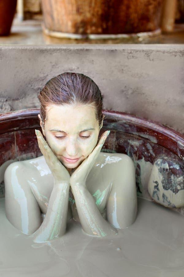 Bagno di fango fotografia stock