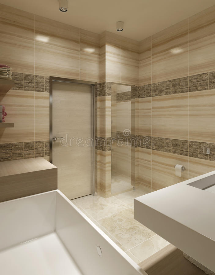 Bagno di stile contemporaneo illustrazione di stock illustrazione di bathroom bagno 48272221 - Bagno contemporaneo ...