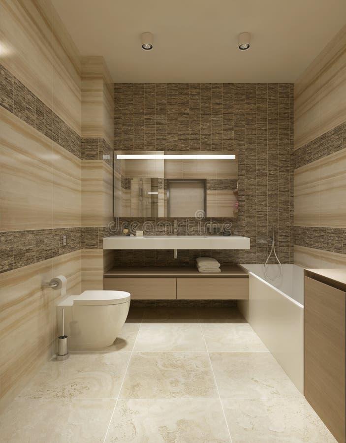 Bagno di stile contemporaneo illustrazione di stock illustrazione di compliant beige 48272299 - Bagno contemporaneo ...