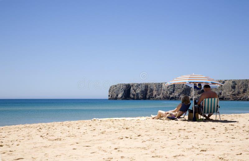 Bagno di Sun nel Portogallo fotografie stock