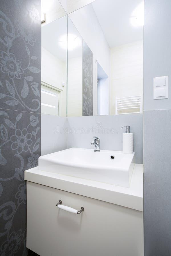 Bagno grigio e bianco fotografia stock immagine di - Bagno bianco e grigio ...