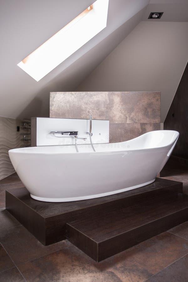 Bagno indipendente elegante immagine stock
