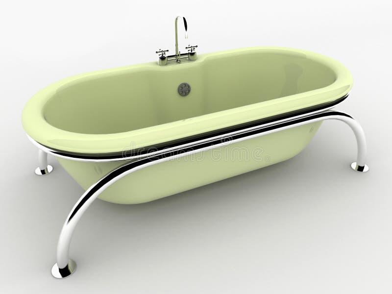 Bagno isolato su bianco. illustrazione di stock