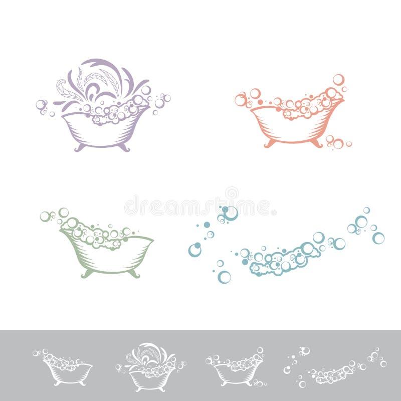 Bagno Logo Set illustrazione di stock