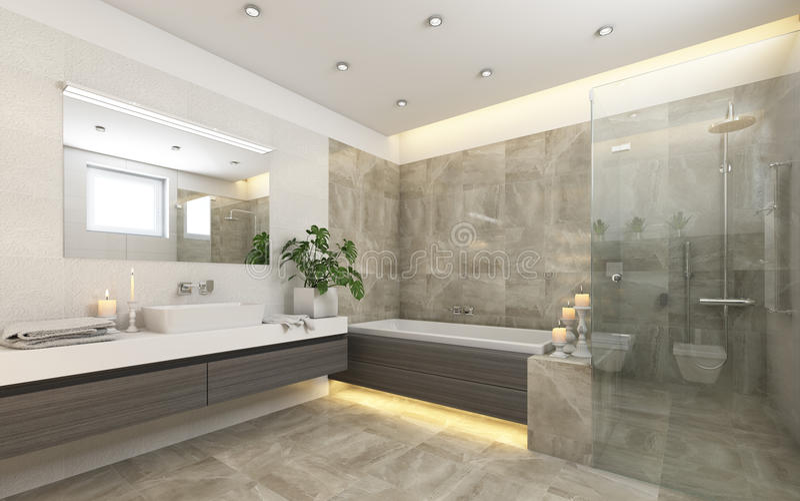 Bagno luminoso in Grey With Candels royalty illustrazione gratis