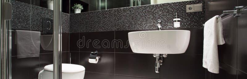 Bagno lussuoso in bianco e nero immagini stock