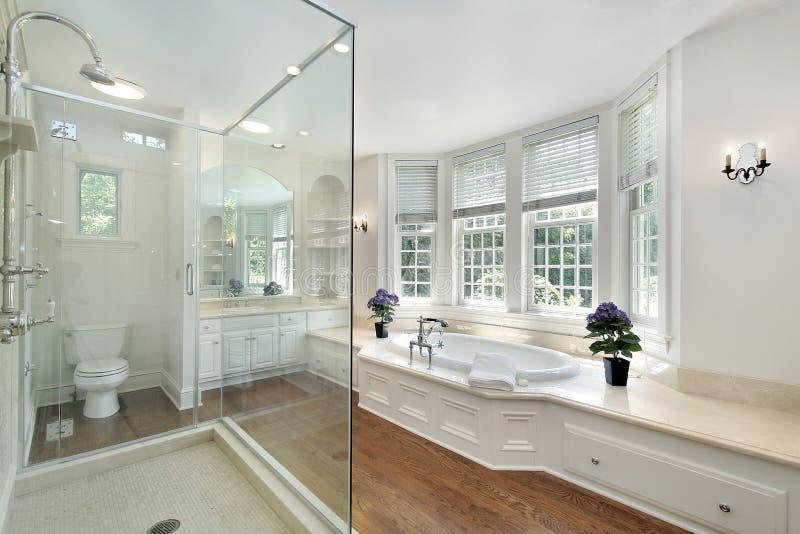 Bagno matrice di lusso bianco fotografie stock