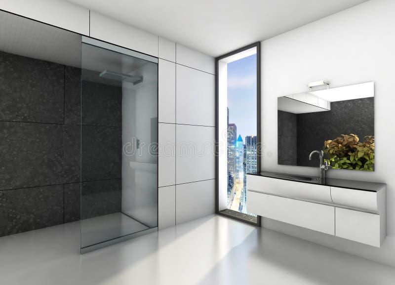 Bagno moderno immagine stock immagine di grigio interno 37426877 for Bagno moderno grigio