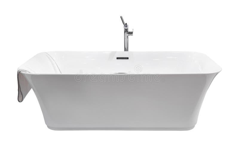 Bagno moderno bianco isolato fotografie stock libere da diritti