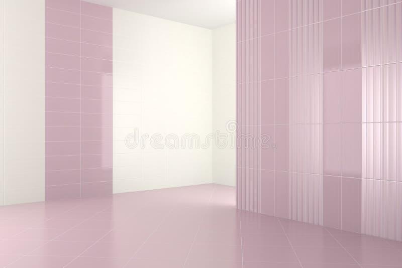Bagno moderno vuoto con le mattonelle porpora - Mattonelle bagno moderno ...