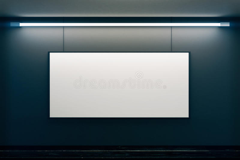 Bagno obrazka pusta rama na czerni ścianie w pustym pokoju ilustracja wektor
