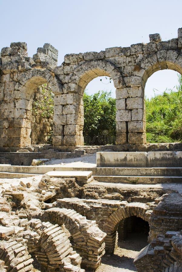 Bagno romano in Perga fotografie stock libere da diritti